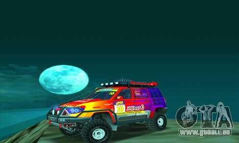 UAZ Patriot essai pour GTA San Andreas laissé vue