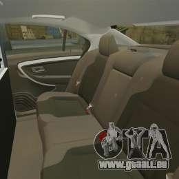 Ford Taurus 2010 Police Interceptor Detroit pour GTA 4 est un côté
