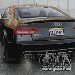Audi RS5 2011 v2.0 pour GTA 4 Vue arrière de la gauche