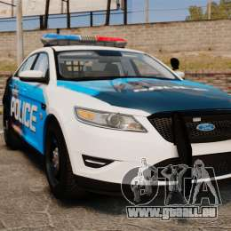 Ford Taurus 2010 Police Interceptor Detroit pour GTA 4
