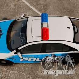 Ford Taurus 2010 Police Interceptor Detroit pour GTA 4 est un droit