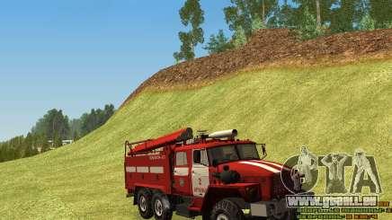 Ural 4320-Feuerwehrmann für GTA San Andreas