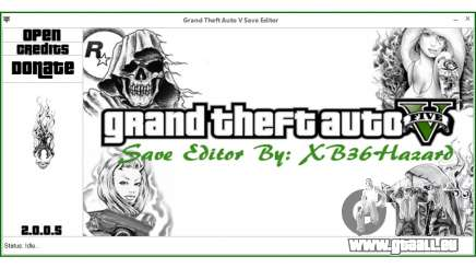 Grand Theft Auto V Save Editor by XB36Hazard pour GTA 5