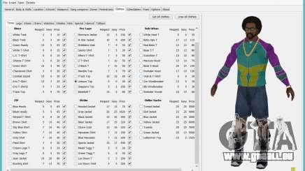 Savegame Editor v3.2 pour GTA San Andreas