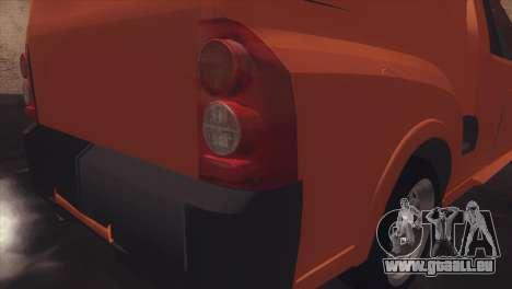 Chevrolet Montana Combo pour GTA San Andreas vue arrière