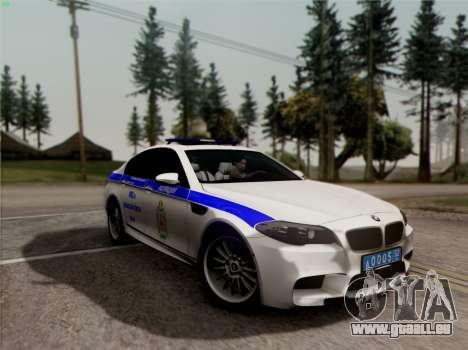 BMW M5 F10 INNEN OFFICE für GTA San Andreas Seitenansicht