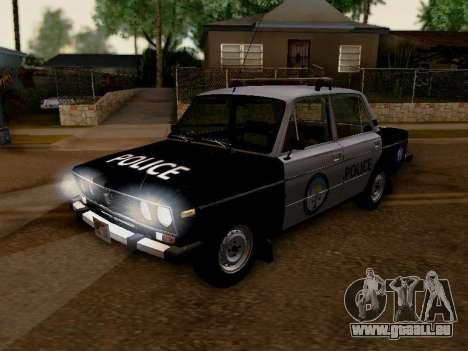 VAZ 2106 Los Santos Polizei für GTA San Andreas Innenansicht