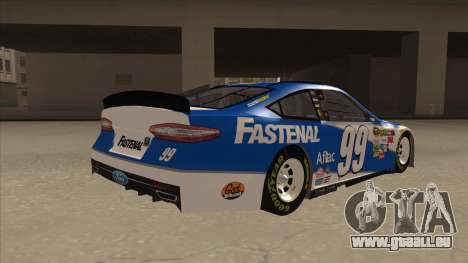 Ford Fusion NASCAR No. 99 Fastenal Aflac Subway für GTA San Andreas rechten Ansicht