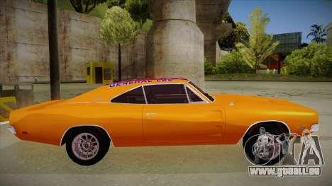 Dodge Charger 1969 (general lee) für GTA San Andreas zurück linke Ansicht