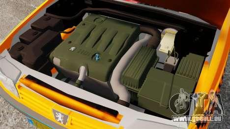 Peugeot 405 GLX Taxi für GTA 4 Innenansicht