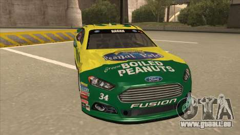 Ford Fusion NASCAR No. 34 Peanut Patch für GTA San Andreas linke Ansicht