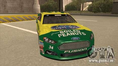 Ford Fusion NASCAR No. 34 Peanut Patch pour GTA San Andreas laissé vue