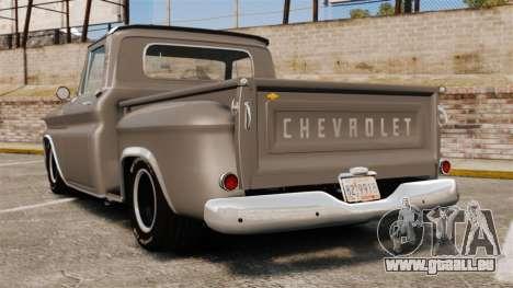Chevrolet C-10 Stepside v2 pour GTA 4 Vue arrière de la gauche