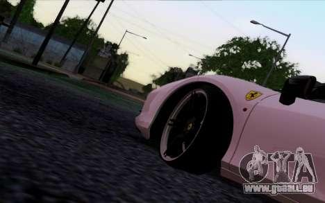 Ferrari 458 Italia Novitec Rosso Carbon pour GTA San Andreas sur la vue arrière gauche