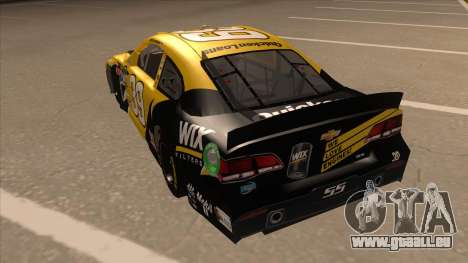Chevrolet SS NASCAR No. 39  Wix Filters für GTA San Andreas Rückansicht