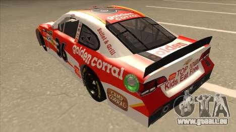 Chevrolet SS NASCAR No. 36 Golden Corral für GTA San Andreas Rückansicht
