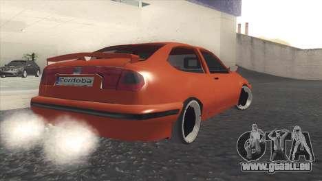 Seat Cordoba SX pour GTA San Andreas sur la vue arrière gauche