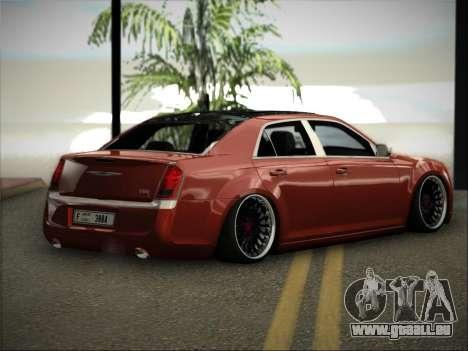 Chrysler 300C Stance pour GTA San Andreas laissé vue