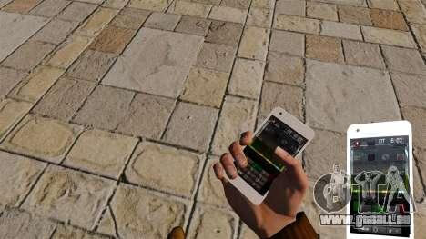 Tastatur Samsung Galaxy S2 für GTA 4 Sekunden Bildschirm