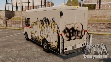 Nouveau graffiti à Boxville pour GTA 4 Vue arrière de la gauche