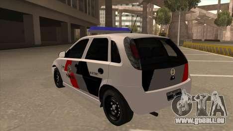 Chevrolet Corsa VHC PM-SP pour GTA San Andreas vue arrière