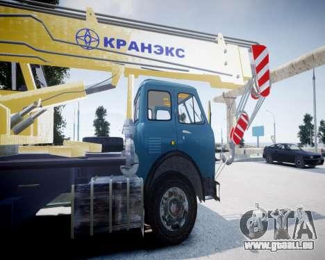MAZ 500 KS3577-4-4 KRANEKS pour GTA 4 Vue arrière de la gauche