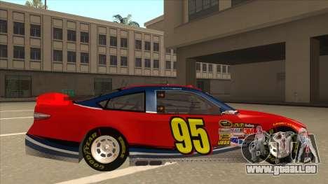 Ford Fusion NASCAR No. 95 pour GTA San Andreas sur la vue arrière gauche