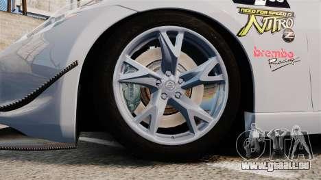 Nissan 370Z für GTA 4 Rückansicht
