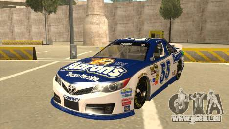 Toyota Camry NASCAR No. 55 Aarons DM white-blue pour GTA San Andreas