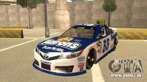 Toyota Camry NASCAR No. 55 Aarons DM white-blue für GTA San Andreas