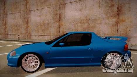 Honda CRX Del Sol pour GTA San Andreas sur la vue arrière gauche