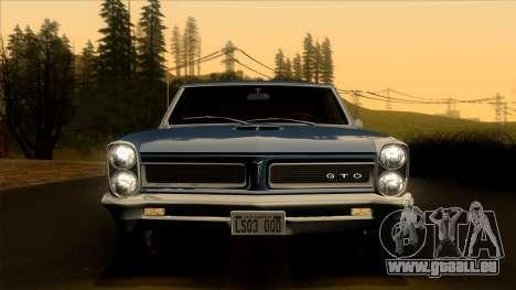 Pontiac Tempest LeMans GTO Hardtop Coupe 1965 pour GTA San Andreas vue arrière