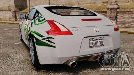 Nissan 370Z pour GTA 4 Vue arrière de la gauche