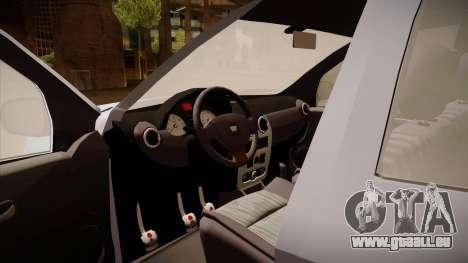 Dacia Duster Elite pour GTA San Andreas vue intérieure