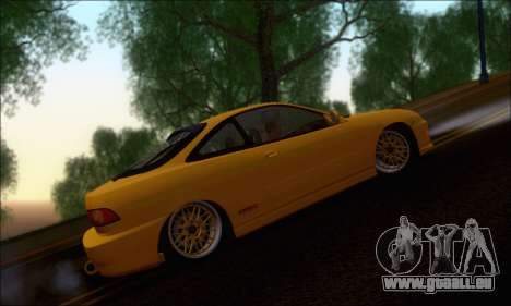 Honda Integra Type-R Hellaflush pour GTA San Andreas sur la vue arrière gauche