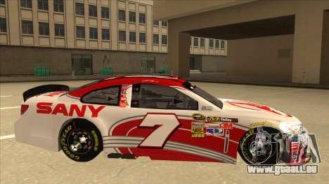 Chevrolet SS NASCAR No. 7 Sany pour GTA San Andreas sur la vue arrière gauche