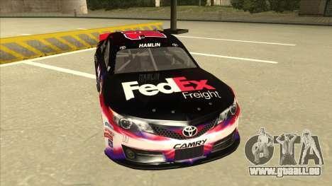 Toyota Camry NASCAR No. 11 FedEx Freight pour GTA San Andreas laissé vue