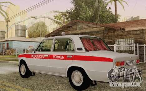 VAZ 21011 assistance médicale pour GTA San Andreas sur la vue arrière gauche