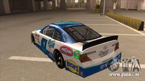 Toyota Camry NASCAR No. 47 Scott für GTA San Andreas Rückansicht
