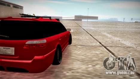 Subaru Legacy Wagon Hellaflush pour GTA San Andreas sur la vue arrière gauche