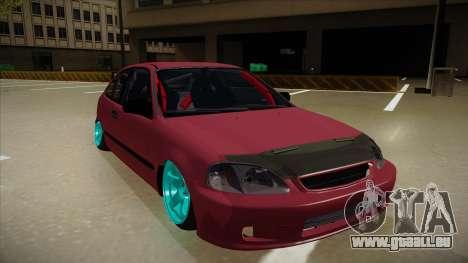 Honda Civic EK9 Drift Edition pour GTA San Andreas laissé vue