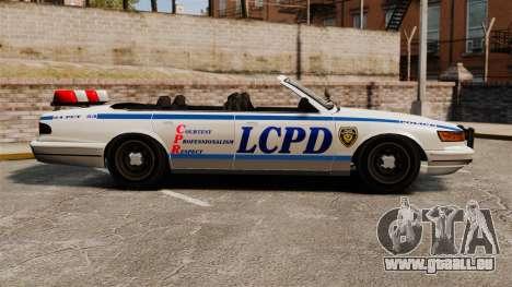 Die Cabrio-Version der Polizei für GTA 4 linke Ansicht