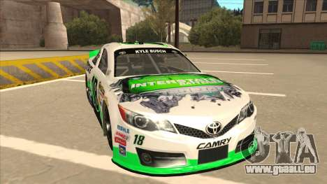 Toyota Camry NASCAR No. 18 Interstate Batteries für GTA San Andreas linke Ansicht
