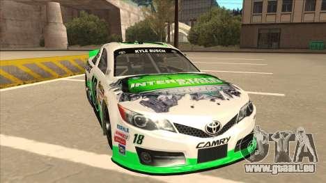 Toyota Camry NASCAR No. 18 Interstate Batteries für GTA San Andreas linke Ansicht