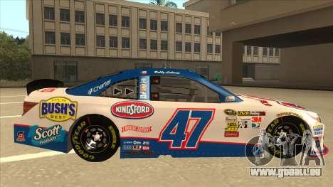 Toyota Camry NASCAR No. 47 Kingsford für GTA San Andreas zurück linke Ansicht