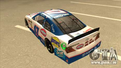Toyota Camry NASCAR No. 47 Kingsford für GTA San Andreas Rückansicht