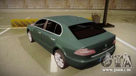 Skoda SuperB 2009 pour GTA San Andreas vue arrière