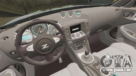 Nissan 370Z pour GTA 4 est une vue de l'intérieur