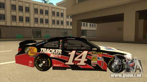 Chevrolet SS NASCAR No. 14 Mobil 1 Tracker Boats für GTA San Andreas zurück linke Ansicht