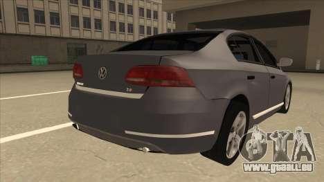 Volkswagen Passat 2.0 Turbo für GTA San Andreas rechten Ansicht